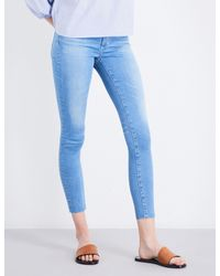AG Jeans Blue The Middi Ankle Skinny Mid-rise Jeans