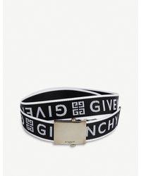 Givenchy Black Logo-jacquard Woven Belt for men