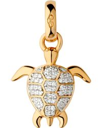 Links of London - Metallic Turtle 18ct Gold And Diamonds Charm - Lyst