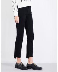 Maje Black Parlo Straight High-rise Jeans