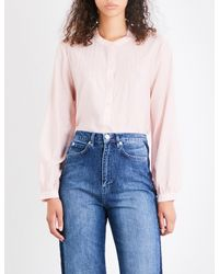 Whistles Pink Heather Swing Voile Blouse