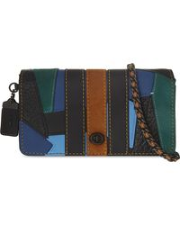 COACH - Multicolor Varsity Patchwork Dinky Leather Crossbody Bag - Lyst