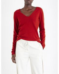 Allude | Red Oversized Cashmere Jumper | Lyst