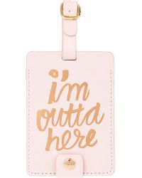 Ban.do | Metallic The Getaway I'm Outta Here! Luggage Tag | Lyst