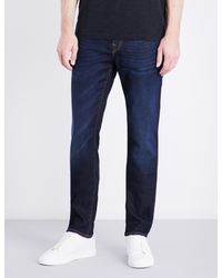 True Religion Blue Rocco Relaxed-fit Skinny Jeans for men