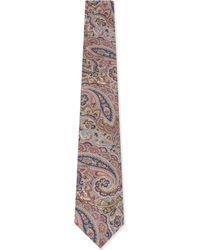 Paul Smith Multicolor Paisley Print Cotton Tie for men