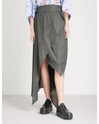 Vivienne Westwood Anglomania - Blue Temperance Woven Wrap Skirt - Lyst