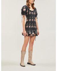 LoveShackFancy Black Violet Dress