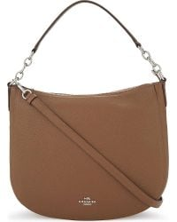 COACH | Brown Chelsea 32 Grained Leather Hobo | Lyst