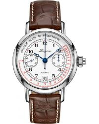 Longines | Metallic L2.800.4.23.2 Heritage Pulsometer Chronograph Stainless Steel Watch for Men | Lyst