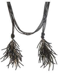 Brunello Cucinelli - Black Bead Open Necklace - Lyst