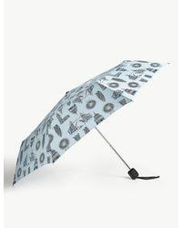 Fulton Blue London Landmark Stowaway Deluxe Umbrella