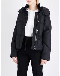 Whistles Black Iva Shell Puffer Jacket