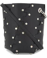 Proenza Schouler - Black Hexagonal Studded Mini Bucket Bag - Lyst