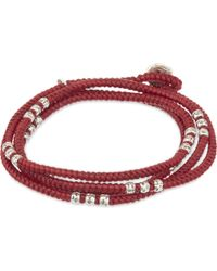 M. Cohen - Red Knotted Bead Wrap Bracelet - Lyst