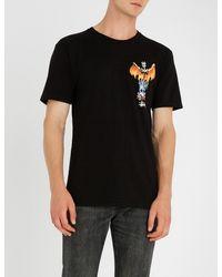 Stussy Black Pheonix Cotton-jersey T-shirt for men