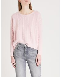 Claudie Pierlot White Open-back Wool And Cotton-blend Jumper