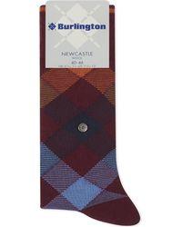 Burlington - Purple Newcastle Tartan Socks for Men - Lyst