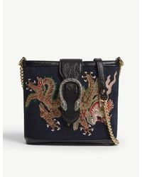 Gucci Black Ophidia Dionysus Suede Shoulder Bag