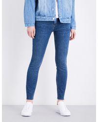 Re/done - Blue Frayed-hem High-rise Straight Leg Jeans for Men - Lyst