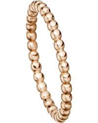 Astley Clarke - Pink 18 Carat Rose Gold Vermeil Beaded Stacking Ring - Lyst