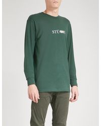 Stussy Green Prism Dice Cotton-jersey Top for men