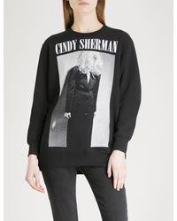 Undercover Black Cindy Sherman Print Cotton-jersey Sweatshirt