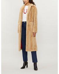4b1c2b00c Sandro Lambe Faux-fur Teddy Coat in Natural - Lyst