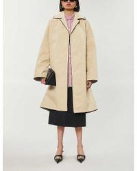 Balenciaga Natural Oversized Cotton-blend Coat
