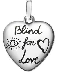 Gucci - Metallic Blind For Love Sterling Silver Charm - Lyst