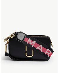 Marc Jacobs Women's Black Snapshot Saffiano Leather Cross-body Bag