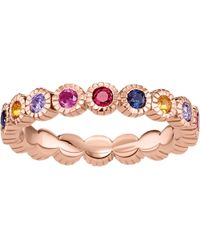 Thomas Sabo - Pink Royalty Multi-stone 18ct Rose Gold-plated Ring - Lyst