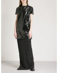 DRKSHDW by Rick Owens Black Coated Cotton Dress
