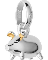 Links of London - Black Sterling Silver And 18-carat Yellow Gold Vermeil Chinese Zodiac Pig Charm - Lyst