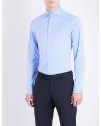 Tiger Of Sweden Black Farrell Slim-fit Stretch-cotton Shirt for men