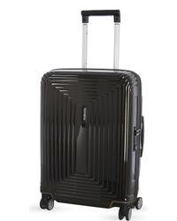 Samsonite Black Neopulse Four-wheel Spinner Suitcase 55cm for men