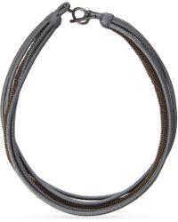 Brunello Cucinelli - Blue Five Layer Necklace - Lyst
