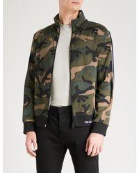 Valentino Green Camouflage-print Jersey Sweatshirt for men