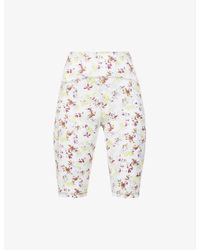 Adidas By Stella McCartney Multicolor Floral-print Stretch-jersey Cycling Shorts