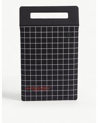 A_COLD_WALL* Black Grid Print Tablet Case for men