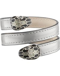 BVLGARI - Serpenti Forever Metallic-leather Wrap Bracelet - Lyst