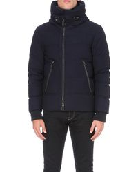 Emporio Armani Blue Quilted Down-filled Jacket for men