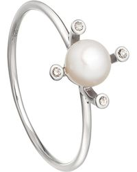 Astley Clarke - Metallic White Pearl Pluto Pearl 14ct White Gold Ring - Lyst