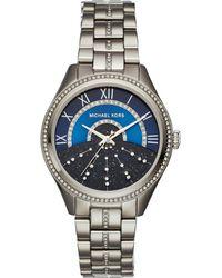 Michael Kors Metallic Mk3720 Crystal And Stainless Steel Watch