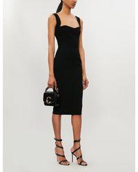 Victoria Beckham Black Sweetheart Crepe Dress