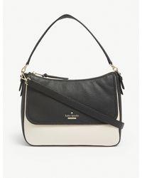 Kate Spade Ladies Black And White Jackson Street Colette Leather Shoulder Bag