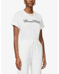 Camilla & Marc White Logo-print Cotton-jersey T-shirt