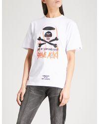 Aape White X Steve Aoki Cotton-jersey T-shirt