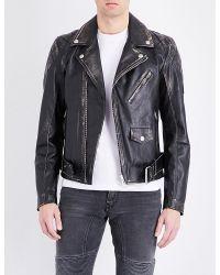 Belstaff Black Arlingham Leather Jacket for men