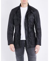 Belstaff | Black Roadmaster Waxed Cotton Jacket for Men | Lyst